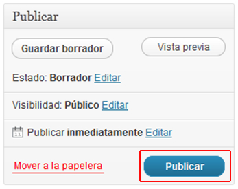 Publicar página