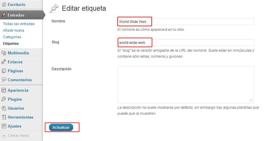 Opción Editar