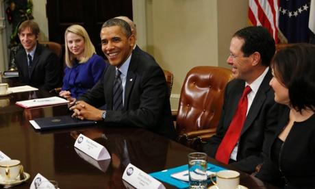 Obama reunión con empresas tecnologia