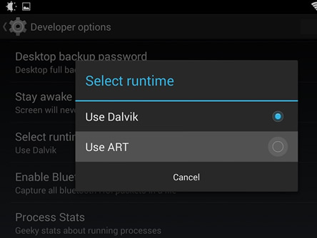Dalvik-por-ART nuevo