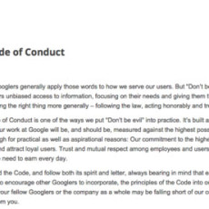 "Del ""Don't be evil"" al ""Do the right thing"", el código de conducta de Google evoluciona"